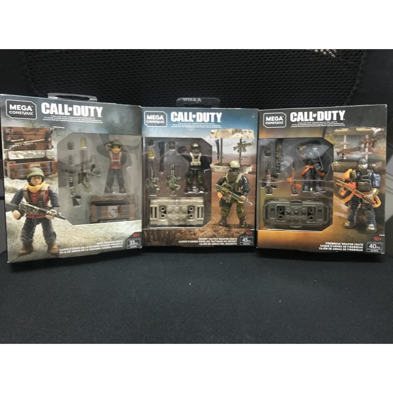 Call Of Duty Firebreak  Desert Tactics WII Weapon Crate MEGA Building Bloks Figures GCN93 GDG50 GCN92