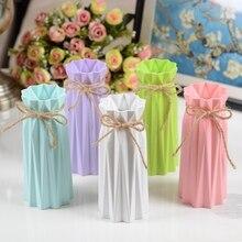 Оригами, пластиковая ваза для цветов, имитация керамики, скандинавский цветочный горшок, цветочная корзина, скандинавские вазы для цветов, украшение дома