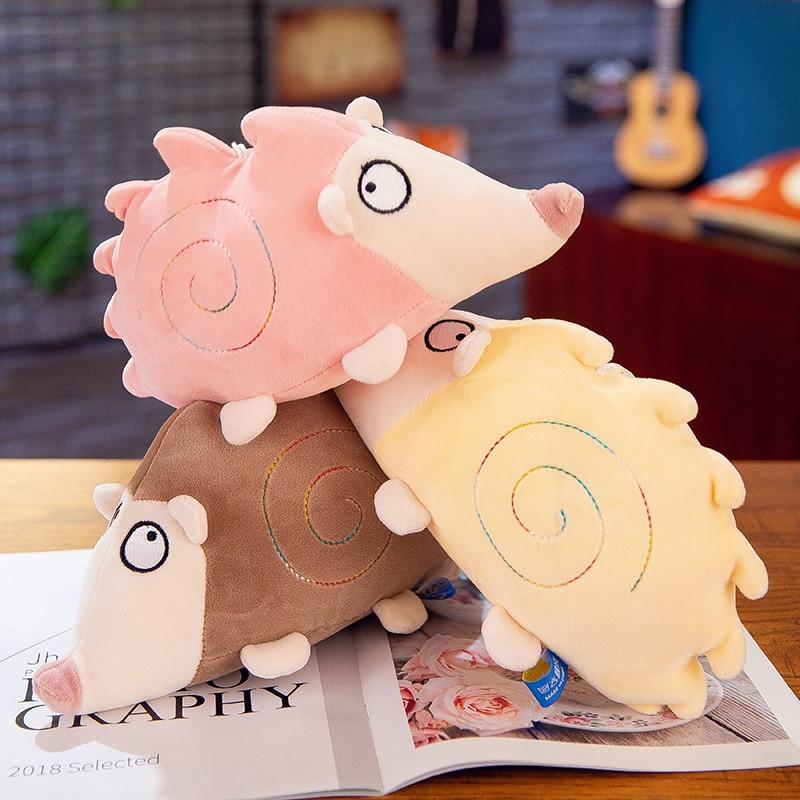 Creative cute little hedgehog plush toy doll children cartoon animal small girl birthday gift