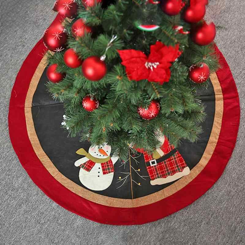 78/90/120cm Christmas Tree Skirt Round Carpet Christmas Decorations for Home Floor Mat New Year 2019 Xmas Tree Skirts