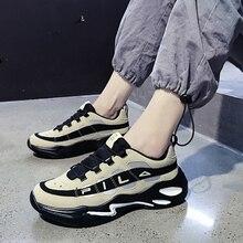 Luminoso nuovo caldo sport allaria aperta scarpe piattaforma suola spessa scarpe vulcanizzate casuali papà moda indistruttibile della scarpa da tennis del progettista