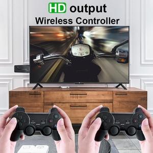 Image 2 - נתונים צפרדע Y3 לייט 10000 משחקים 4K משחק מקל טלוויזיה וידאו משחק קונסולת 2.4G אלחוטי בקר עבור PS1/SNES 9 אמולטור רטרו קונסולה