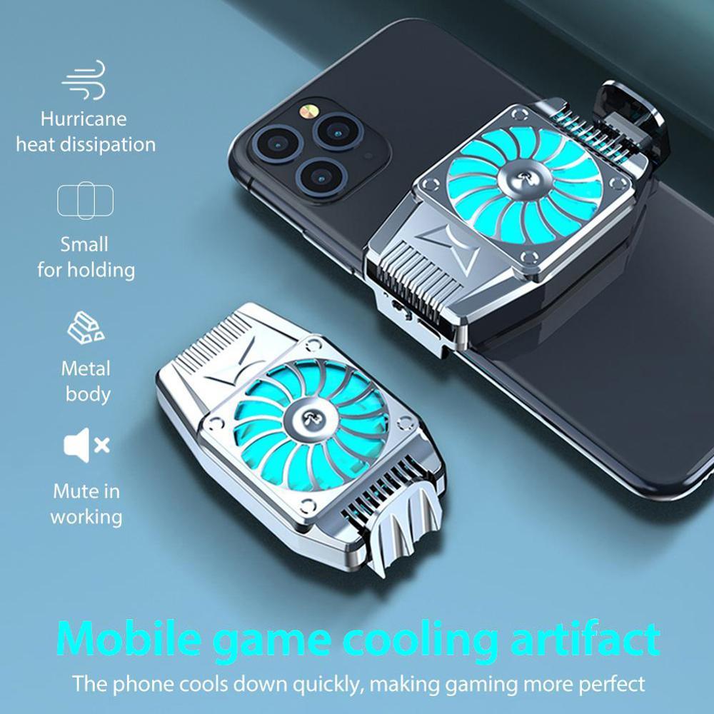Мобильный телефон, радиатор, Универсальный мини портативный охлаждающий вентилятор, игровой кулер, радиатор для сотового телефона, радиато...