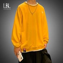 LBL 2021 bahar kadın Hoodies boy kadın gevşek pamuk düz kazak sıcak kadın tişörtü bayan moda artı boyutu 5XL
