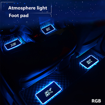 4pcs Car Interior Floor Mats Atmosphere lamp Automotive LED Decorative Sound control Colorful flashing Light With Remote