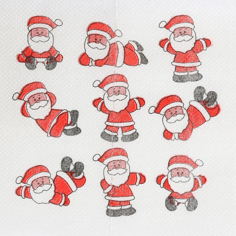 Santa Claus Printed Paper Towels At Personal Care For Schools And Home Use