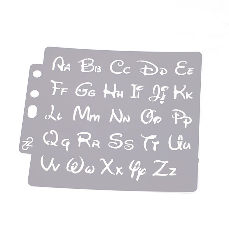Alphabet Letter Stencils Template Painting Scrapbooking Embossing Stamping Album Card DIY Y51A