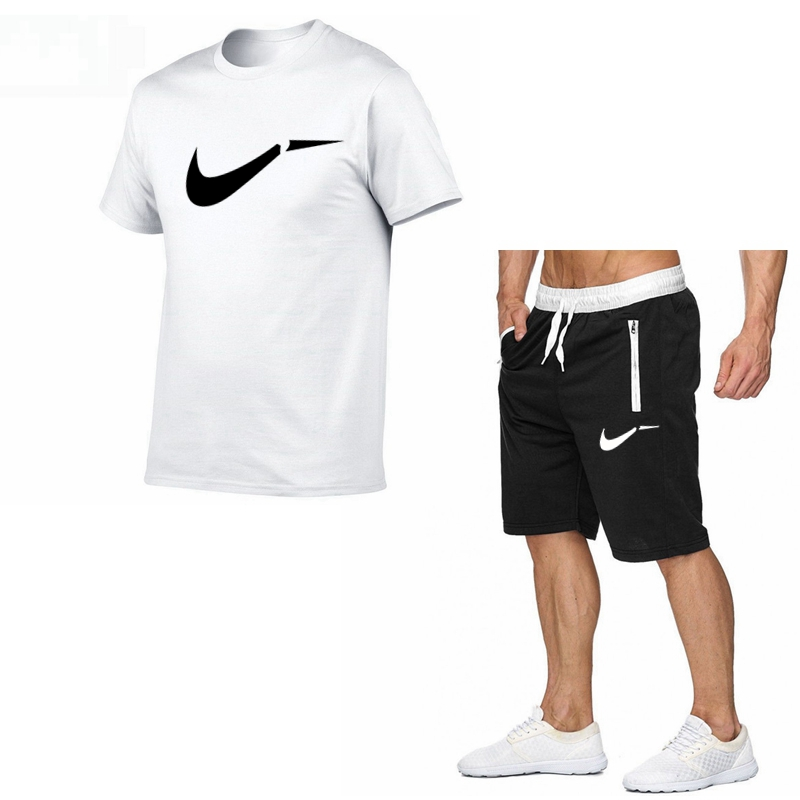 Men's New Summer High Quality Sets T-shirt+shorts Men Brand Clothing Two Piece Suit Tracksuit Fashion Casual Tshirts