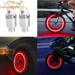 2X Car Light Bike Hub Lamp Wheel Tire Tyre Valve Flash Neon LED Auto Dust-proof Cap Spoke Car Valve Stems Lamp Caps Accessories