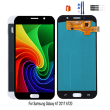 AMOLED For Samsung Galaxy A7 2017 A720 A720F SM-A720F Touch Screen + LCD Display Digitizer Assembly LCD Display Free Tools 10pcs lot original lcd display touch screen digitizer assembly for samsung galaxy a7 a7000 white free shipping