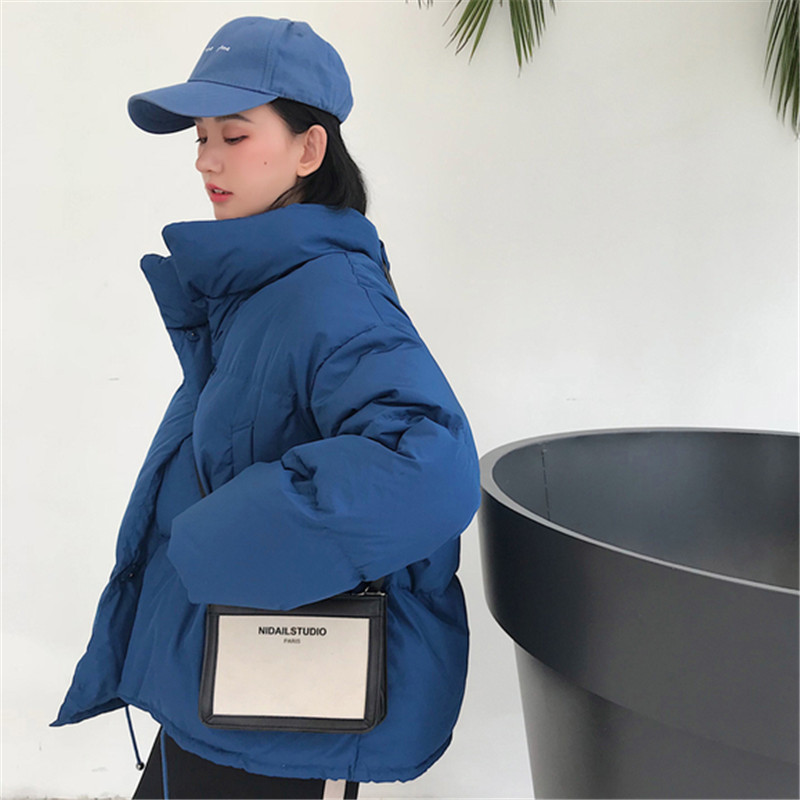 Solid Pocket 2019 New Cotton Loose Warm Long   Parka   Jacket Winter Padded Coat Women Overcoat Korea Female Soft Feminino