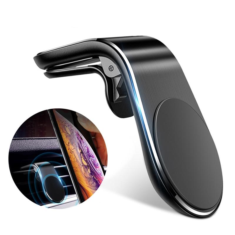 Универсальный магнитный автомобильный держатель для телефона с креплением на вентиляционное отверстие