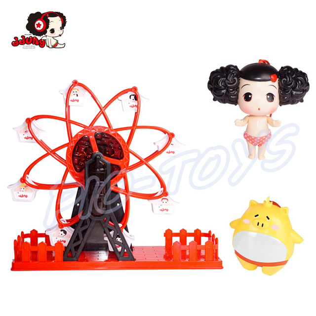 Children Day Gift Ferris Wheel Electrical Baby Toy Doll Figures Kids Fun Game Music Play Shiny Light Present 2