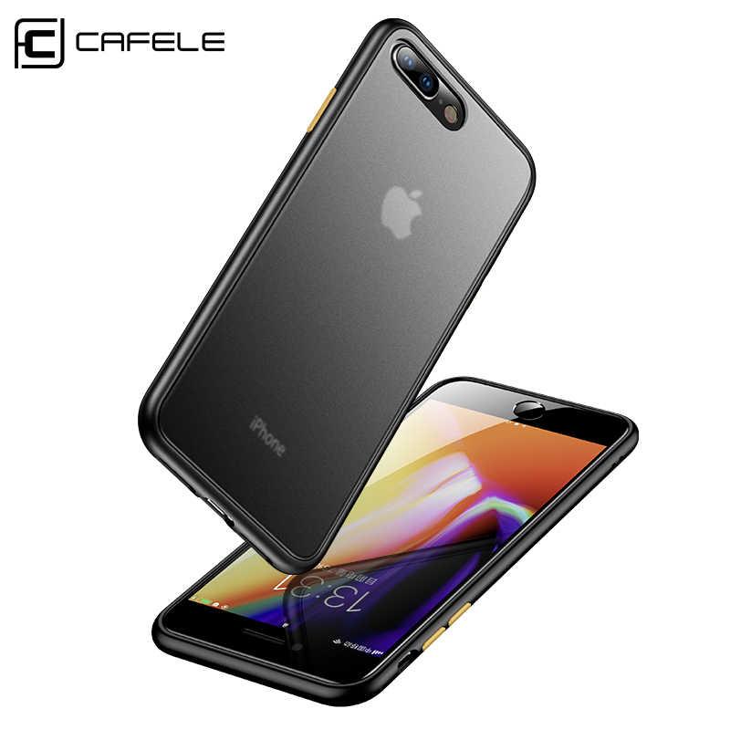 Cafele ultra fino 0.5mm pp caso para iphone 7 8/7 8 plus capa de telefone de luxo para iphone 7 8 anti impressão digital risco