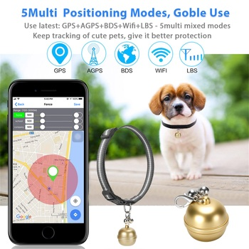 IP67 Waterproof Cats GPS Locator Pet GPS Tracke Electronic Anti-lost Device Pet Collar Pet Dog Cat Keys Wallet Bag Kids Tracker image