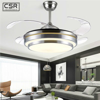 42 Inch LED Ceiling Fan Lamp with Remote Control Ceiling Light with Fan Simple Modern Ceiling Fan Fashion Living Room Decor Fans