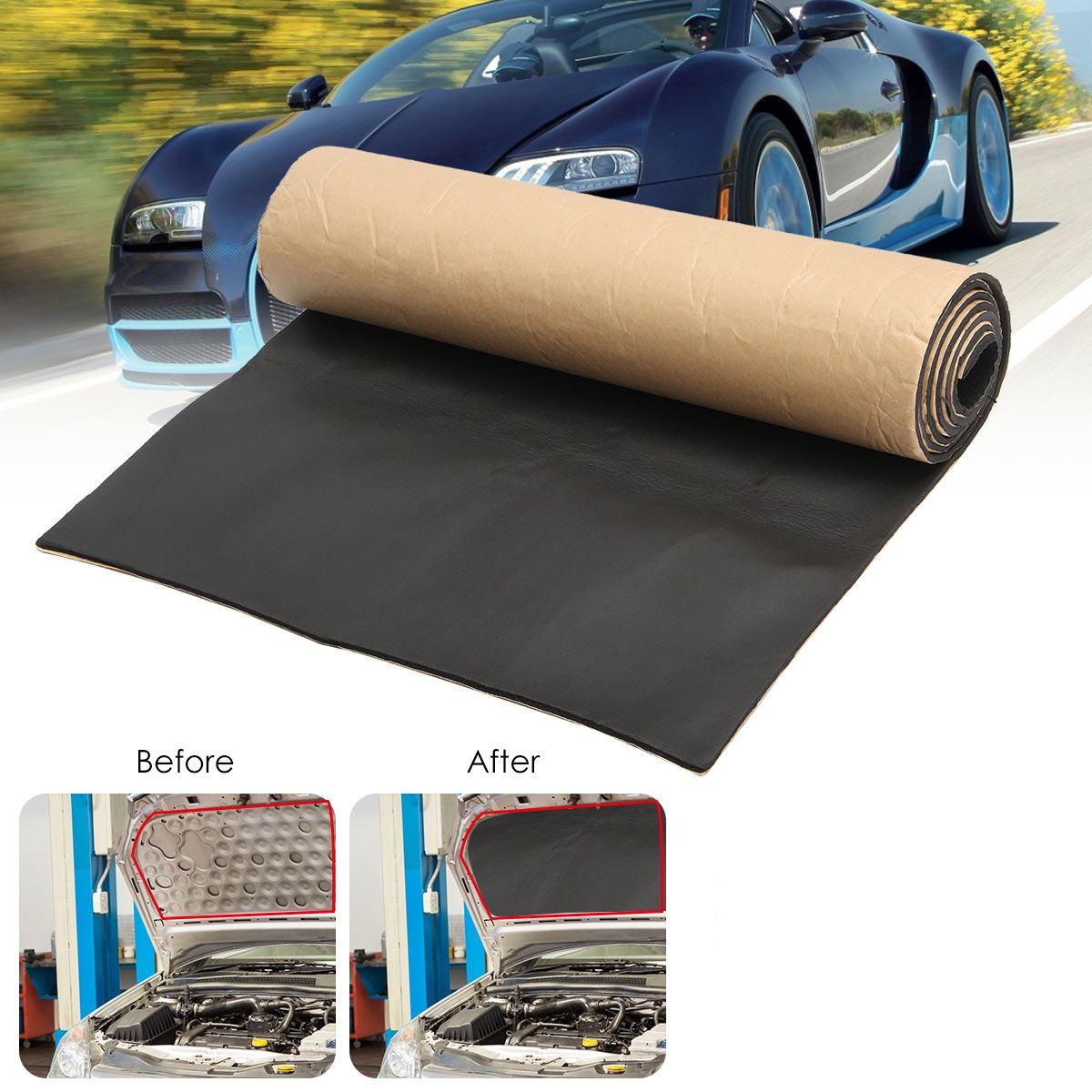 1 рулон, 200 см x 50 см, 10 мм/6 мм/3 мм, звукоизоляция автомобиля, тусклый автомобиль, грузовик, анти-шум, звукоизоляция, хлопок, тепло, закрытая клет...