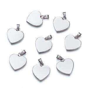 10pcs 304 Stainless Steel Heart Pendants Valentines Gift Golden Rose Gold Steel Color 23x22x4mm, Hole: 3x6mm