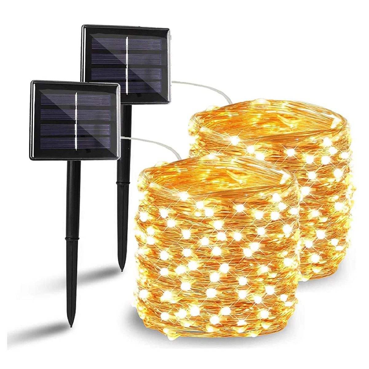 Solar led Fairy light String 12m 100LED / 5M 50LED Waterproof For Garden decoration Outdoor DIY Christmas Easy to install