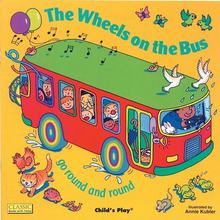 Bus-English-Picture-Book The-Wheels Child's Bedtime Reading Early-Education Play Primary-School-Enlightenment