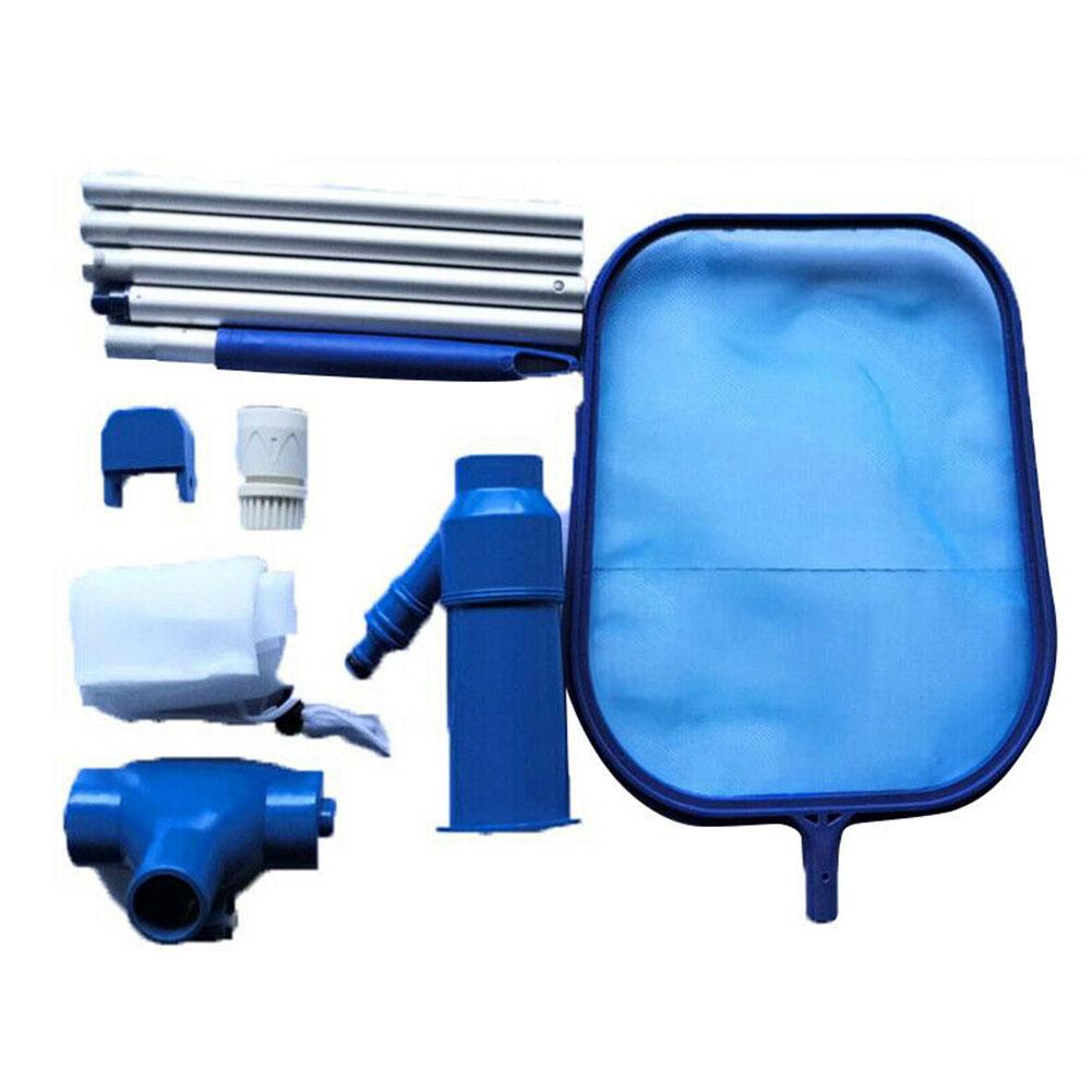 Handheld Cleaning Net Kit Aquarium Suction Head Swimming Pool Fishpond Maintenance Retractable Water Debris Accessories Fresh