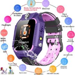 LIGE Intelligente Della Vigilanza Dei Bambini di Misurazione della Temperatura LBS Posizionamento della Stazione Base IP67 Del Capretto Impermeabile Smartwatch Per Android iOS