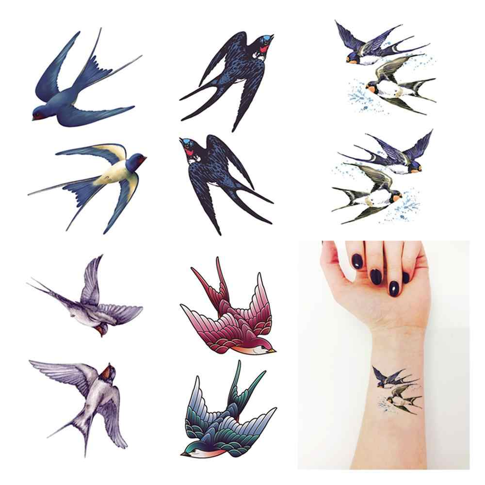 Wasserdicht Temporäre Fake Tattoo Aufkleber Swallow Pigeon Vögel Design Körper Kunst Make-Up-Tools