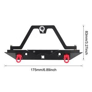 Image 2 - TRX 4 Metalen Achterbumper Reservewiel Houder met Led Licht voor 1/10 RC Crawler Traxxas TRX4 D90 D110 Defender Axiale SCX10 90046