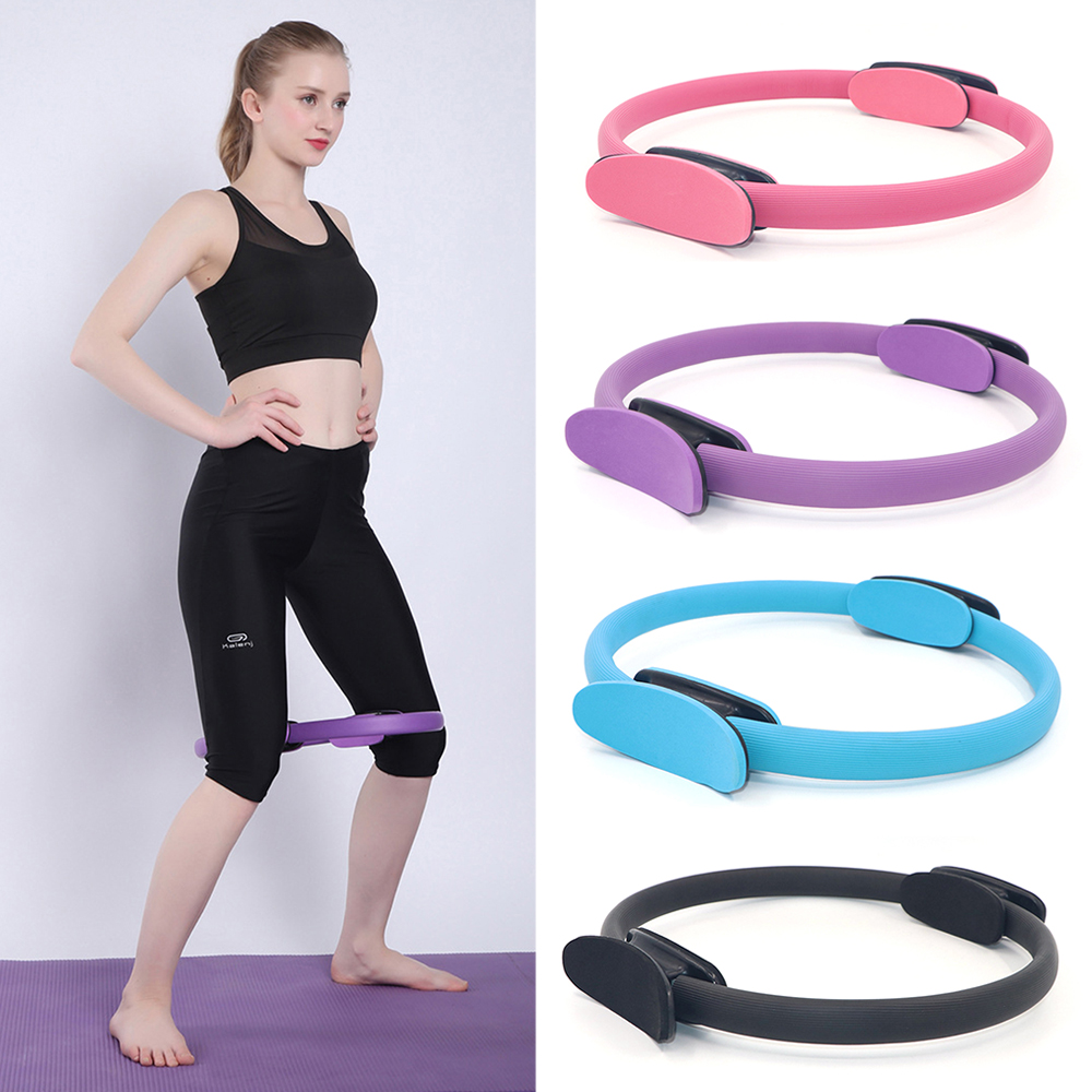 Pilates Ring Magic Circle Yoga Exercise Fitness Circle Dual Grip Sporting Good Yoga Ring Body Massage Loop Lose Weight Equipment