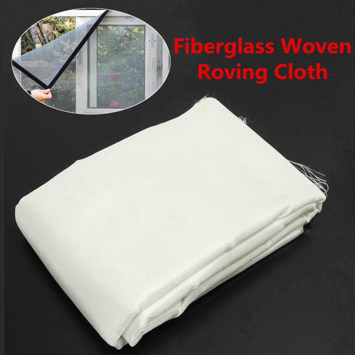 Tissu en Fiber de verre tissé tissu itinérant grille en Fiber de verre armure toile Quilting outil bricolage matériel fournitures blanc 6ozx50