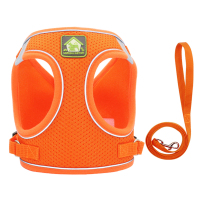 Orange-Reflective Puppy Cat Harness Vest