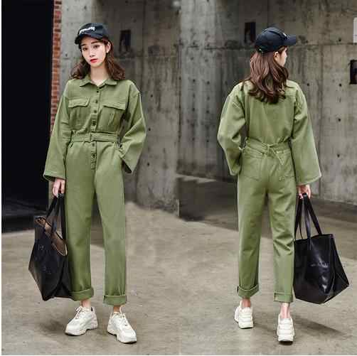 Overalls For Women Spring Harajuku Gothic Denim Jumpsuit High Waist Long Jeans Romper Wide Leg Trousers Ladies Bodysuit LJ783