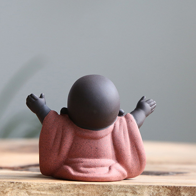 N Tea Favor Happy Maitreya Buddha Tea Pet Teahouse Ornaments Ceramic Home Decor Succulent Plants Decoration 4 style for choosing 3