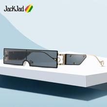 JackJad 2020 Fashion Cool Unique Shield Style Rivets Sunglasses
