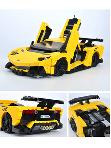 XINGBAO Creative MOC Techniks Car Series Sports Car Convertible Building Blocks Bricks Construction Car Toy Model Christmas Gift(China)