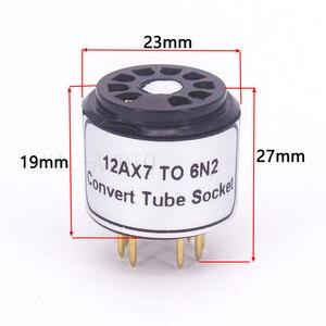 Image 3 - 1Pc 12AX7 ECC83 Top Te 6N2 Bodem 9Pins Naar 9Pins Buis Diy Audio Vacuümbuis Adapter Socket converter Versterker Hifi
