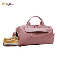 New Fashion Pink Travel Sport Gym Bag Women Swiming Waterproof Dry Wet Shoe Pouch Yoga Duffle Bags Big Capacity Luggage Handbags