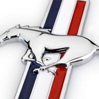 decals rear trunk emblem 1 Pair 3D Metal Mustang Car Side Fender Rear Trunk Emblem Badge Sticker Decals Accessories For Ford Mustang GT Car-styling (4)
