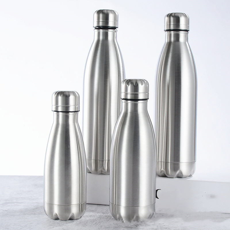 Water Bottle 500/350ML Stainless Wide Mouth Sport Cup Metal Color Drink Winter Travel Drinkware Thermos Cup Outdoor Bottle Cover Water Bottles     - AliExpress