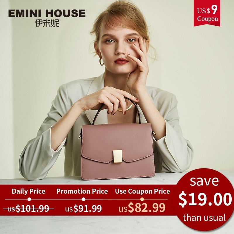 Padlock Handbag Women Bags Emini House Crossbody-Bags Designer Split