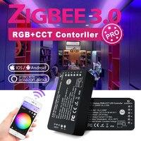 GLEDOPTO Zigbee 3,0 LED Licht Streifen Controller RGB Warm Kalt Weiß Pro Kompatibel mit Hub Tuya App Stimme RF Remote control