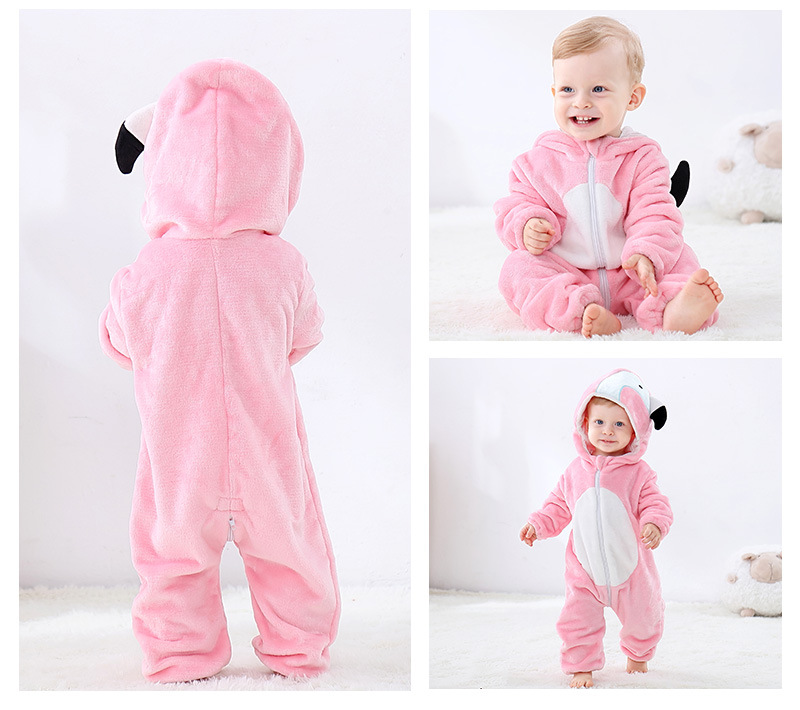 H7eed0d70e8ed4d959f5c7051e2faba2bd Cute Cartoon Flannel Baby Rompers Novelty Rabbit Cotton Baby Boys Girls Animal Rompers Stitch Baby's Sets kigurumi New born 2019