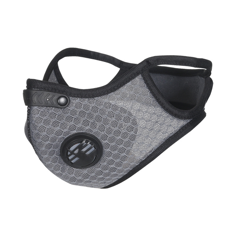 H7eed106571db4f899bbfbe8b3e69235e3 Air Filter Sport Face Mask Training Bicycle Cycling Half Face Mask Bike Running Jogging Facemask Anti Pollution Mask Q1048