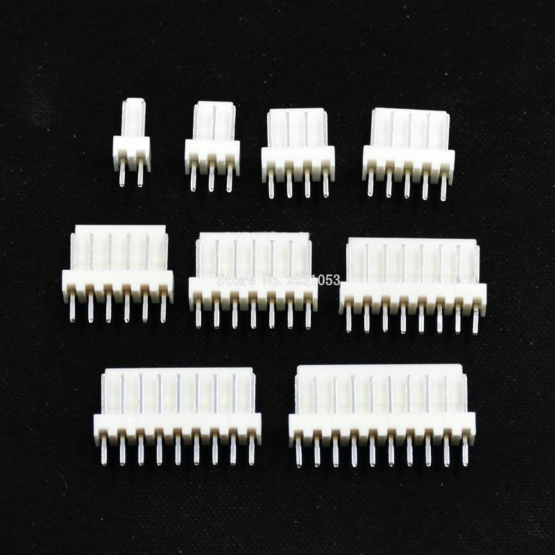 Штекерный разъем KF2510 2510, 50 шт./лот, 2P, 3P, 4P, 5P, 6P, 7P, 8P, 9P, 10 контактов, 2,54 мм, штыревой разъем, фоторазъем