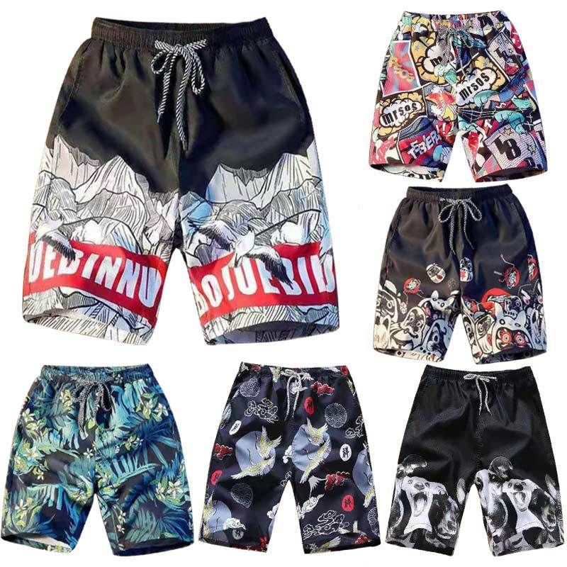 2019 new Summer men's   board     shorts   Casual beach pants beach men's quick-drying   shorts   men's increased beach   shorts   swimwear