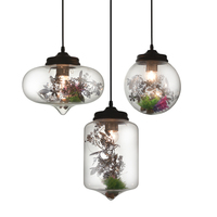 Moderne Eisen Sieb Anhänger Lampe Klar Transparent Glas Industrie Design Esszimmer Restaurant Hotel Loft Suspension Licht|Pendelleuchten|   -