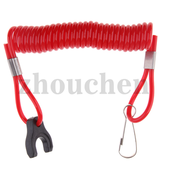 1 Pcs Boat Outboard Engine Motor Lanyard Kill Stop Switch Safety Tether For Tohatsu    10cm Wire Length