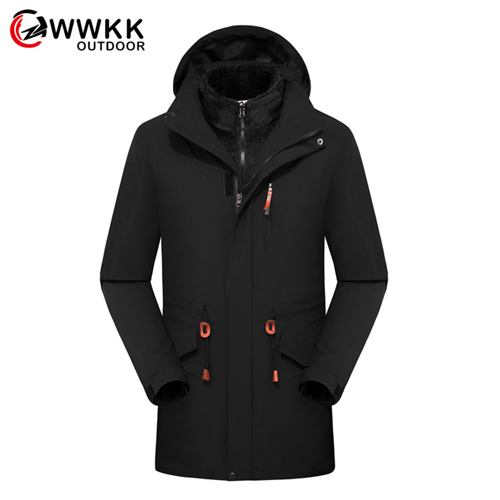 WWKK Winter Men Women Warm Hiking Jackets Outdoor Sports Clothes Waterproof Coats Clothing Hooded Camping Trekking Skiing Jacket