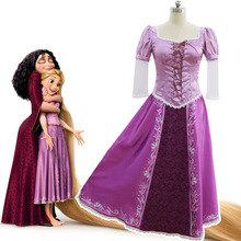 Rapunzel Costume Fancy Dress Tangled Cosplay Adult Halloween Womens New