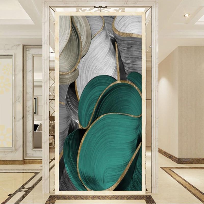 Скандинавская Современная Картина на холсте Роскошные абстрактные ленты плакаты печатные настенные фотографии для гостиной спальни украш...